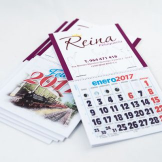 calendario para nevera con imán y faldilla